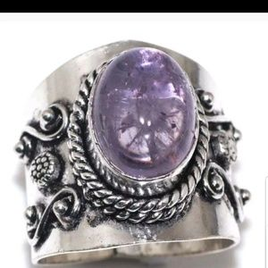 Jewelry - New Handcrafted Amethyst ring size 8.5